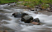 Flowing river with long exposure effect — Stock Photo