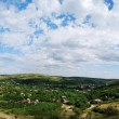 Panorama Landscape of a hill - Stock Photo