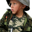 Boy soldier - Stock Photo