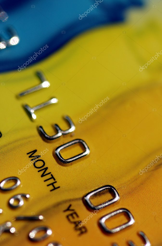 Details of colorful credit card — Stock Photo #2022799