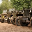 American army cars — Stock Photo