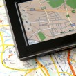 GPS AND MAP — Stock Photo