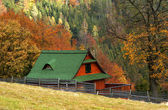 COTTAGE IN AUTUMN — Stock Photo