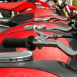 Stock Photo: Red motorcycles