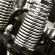 Stock Photo: Motorcycle suspension