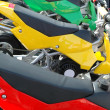 Stock Photo: Colorful motorcycles