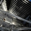Motorcycle engine — Stock Photo
