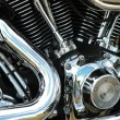 Stock Photo: Motorcycle reflections