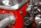 Engine compressor valve close-up — Stock Photo