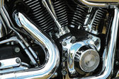 Motorcycle reflections — Stock Photo