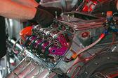 Wyścigu samochód silnik — Zdjęcie stockowe