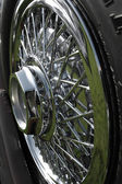 Classic car spokes — Stock Photo