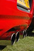 Quad exhausts — Stock Photo