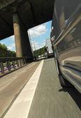 Speeding traffic — Stock Photo