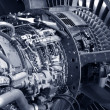 Jet engine detail — Stock Photo