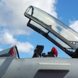 Stock Photo: Jet fighter canopy