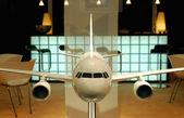 Passenger jet replica — Stock Photo