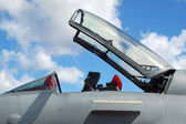 Jet fighter canopy — Stock Photo