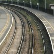 Railroad platform - Stock Photo
