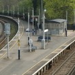 Stock Photo: Deserted platforms