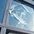 Broken window - Stockfoto
