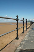 Beach railings — Stock Photo