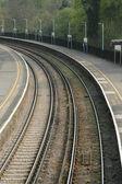 Railroad platform — Stock Photo