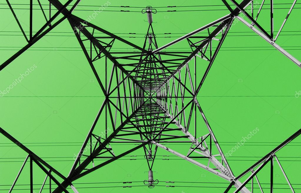 Green energy electricity pylon concept abstract — Stock Photo #2071799