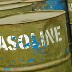 Gasoline drums — Stock Photo