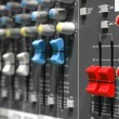 Soundboard sliders - Foto Stock