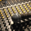 Soundboard and mic - Stock Photo