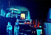 Backstage på en livemusik — Stockfoto