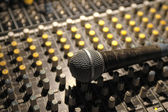 Soundboard and mic — Stock Photo