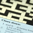 Crossword clues — 图库照片