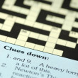 Crossword clues — Foto Stock