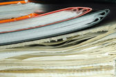 Stack of untidy paperwork — Stock Photo