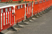 Roadwork barriers — Stock Photo