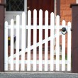White picket gate — Stock Photo
