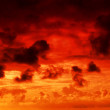 Fire in the sky — Stock Photo