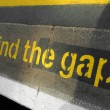 Mind the gap — Foto Stock