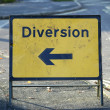 Stock Photo: Diversion sign