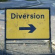 Stock Photo: Diversion right