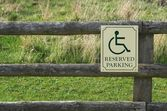 Reserved parking — Stock Photo
