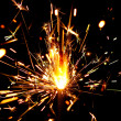 Stock Photo: Sparks of bengal light
