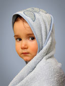 Angel look baby boy portrait — Stock Photo