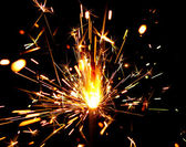 Sparks of bengal light — Foto Stock
