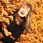 Autumn joyful beauty woman portrait — Stock Photo