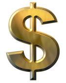 золотой знак доллара — Стоковое фото