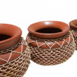 Set of african pots — Stock Photo