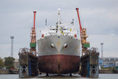Vessel in dry dock — Stock Photo